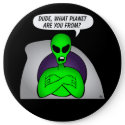 Alien & UFO Keychains &                                        Flair button