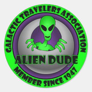 Alien & UFO Keychains & Flair Classic Round Sticker