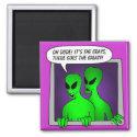 Alien & UFO Keychains &                                        Flair magnet