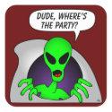 Alien & UFO Keychains                                        & Flair sticker