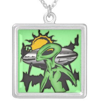 Alien UFO Necklace
