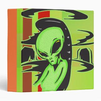 Alien UFO Pilot Vinyl Binders