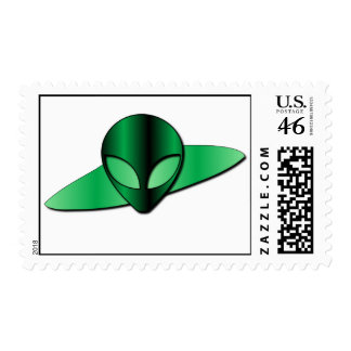 Alien UFO Stamp