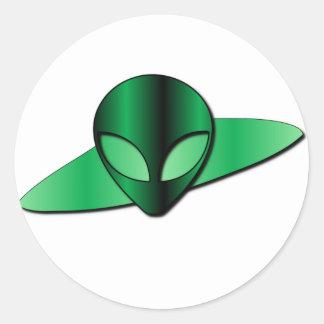 Alien UFO Sticker