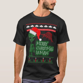 Alien UFO Ugly Christmas Sweater Knitted