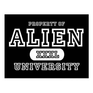 Alien Univeristy Dark Postcard