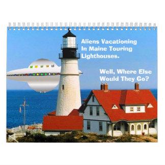 Alien Vacation Calendar