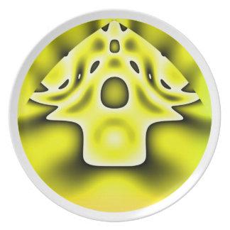 Alien village party plates