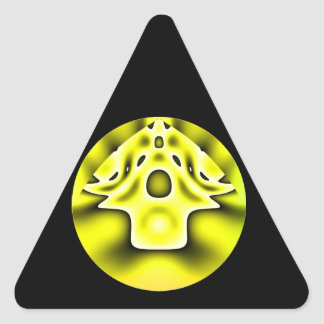 Alien village triangle sticker