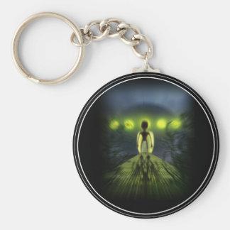 Alien Visitor Basic Round Button Keychain