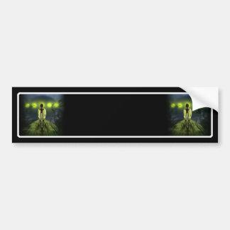 Alien Visitor Bumper Sticker