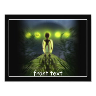 Alien Visitor Custom Invites