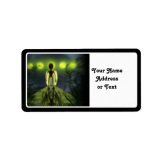 Alien Visitor Personalized Address Label