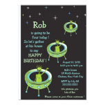 "Alien Visitors - kids birthday invitation 5"" X 7"" Invitation Card"