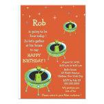 "Alien Visitors - kids birthday invitation-2 5"" X 7"" Invitation Card"