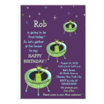"Alien Visitors - kids birthday invitation-3 5"" X 7"" Invitation Card"