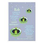 "Alien Visitors - kids birthday invitation-6 5"" X 7"" Invitation Card"