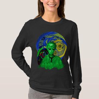 Alien Visitors Ladies Roomy Long Sleeve T-Shirt