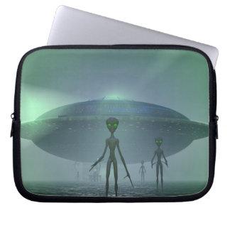 Alien Visitors laptop sleeve