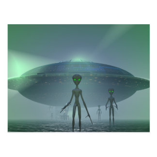 Alien Visitors postcard