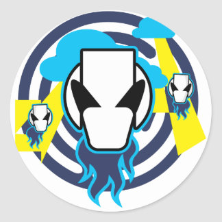 Alien Visitors Stickers