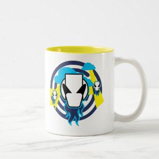 Alien Visitors Two-Tone Coffee Mug