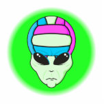 alien volleyball extreme sports design 2 cut outs
