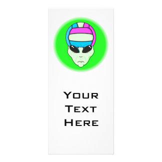 alien volleyball extreme sports design 2 custom rack card