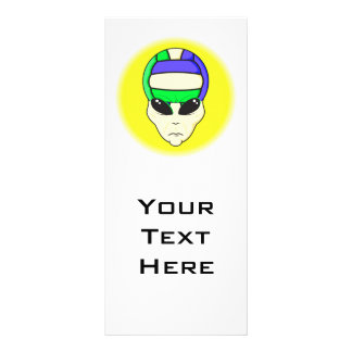 alien volleyball extreme sports design rack card