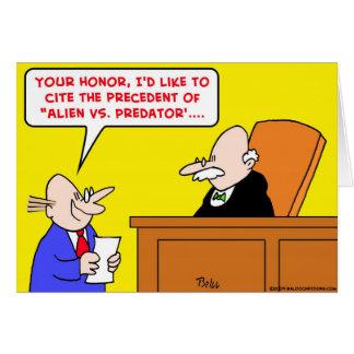 alien vs predator judge precedent card