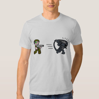 Alien vs Soldier Chase Tee Shirt