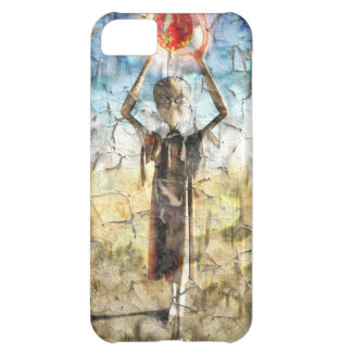 Alien Wall Painting Cover For iPhone 5C
