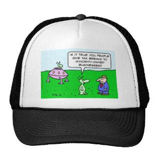 Alien wants tax breaks for minority-owned business trucker hat