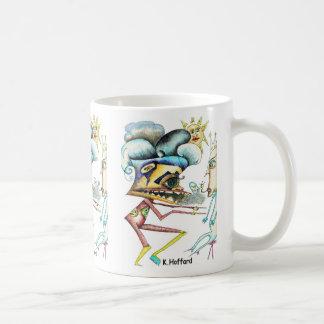 """Alien War"" Classic White Coffee Mug"