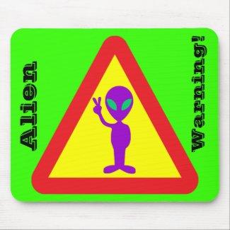 Alien Warning mousepad