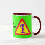 Alien Warning Mug