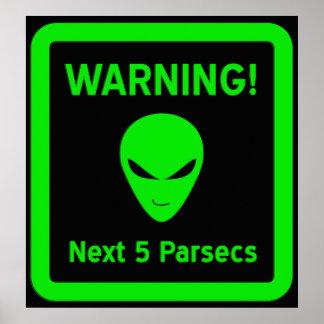 Alien Warning Poster