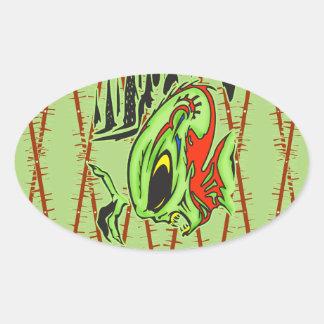 Alien Warriors Oval Sticker