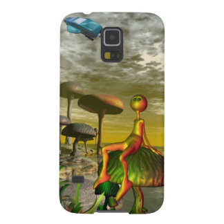 Alien watching an aircar in the sky galaxy s5 cover