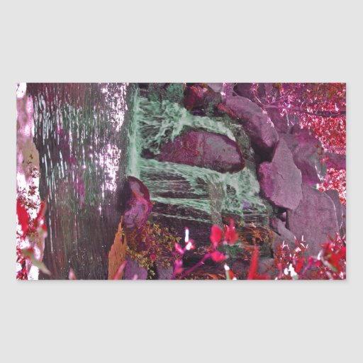 Alien Waterfall Rectangle Sticker