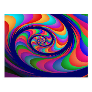 Alien Waves 2 Fine Fractal Art Postcard