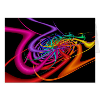 Alien Waves Modern Colorful Abstract Art Card