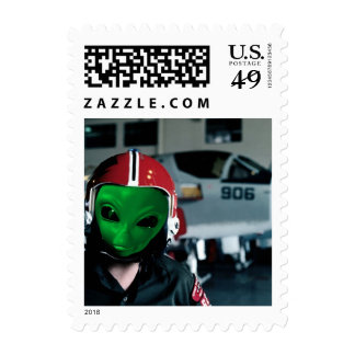 Alien We are here 1sm Postage