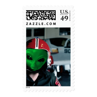 Alien We are here 2med Postage