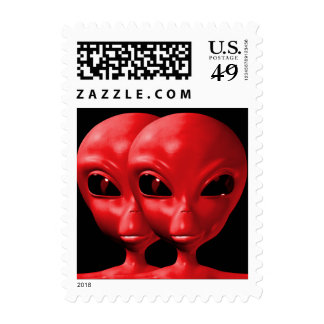 Alien We are here believe 11sm Postage Stamp