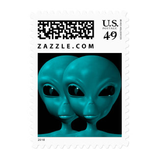 Alien We are here believe 15sm Postage Stamps