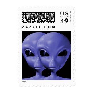 Alien We are here believe 16sm Postage Stamps