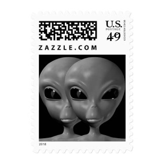 Alien We are here believe 17sm Postage Stamps