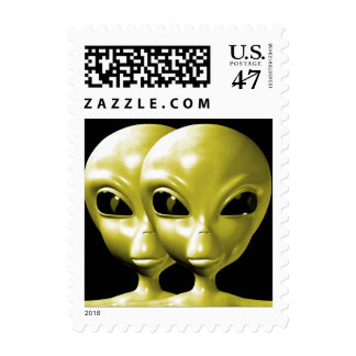 Alien We are here believe 18sm Postage