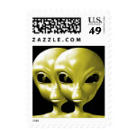 Alien We are here believe 18sm Stamp
